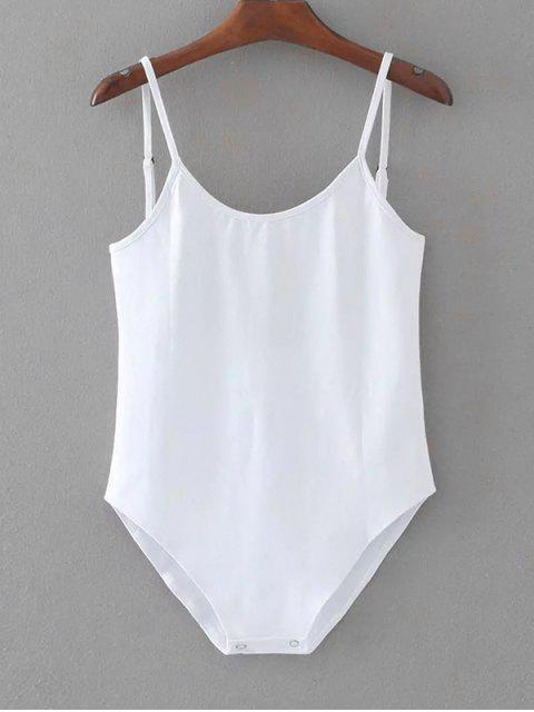 Body sin mangas con espalda abierta - Blanco Talla única Mobile