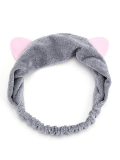 online Cute Cat Ears Two Tone Elastic Hair Band - GRAY  Mobile