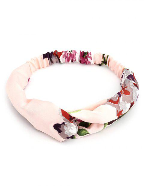 Flower Print Multi Use Elastic Hair Band - Rosa Claro  Mobile