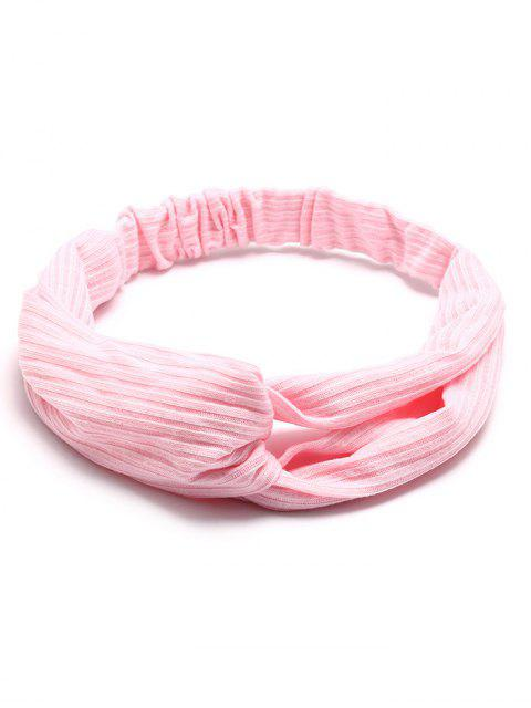 women's Crochet Elastic Hair Band - LIGHT PINK  Mobile