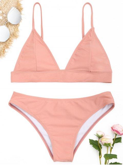 Gepolsterter Bikini Set - pinkbeige S Mobile
