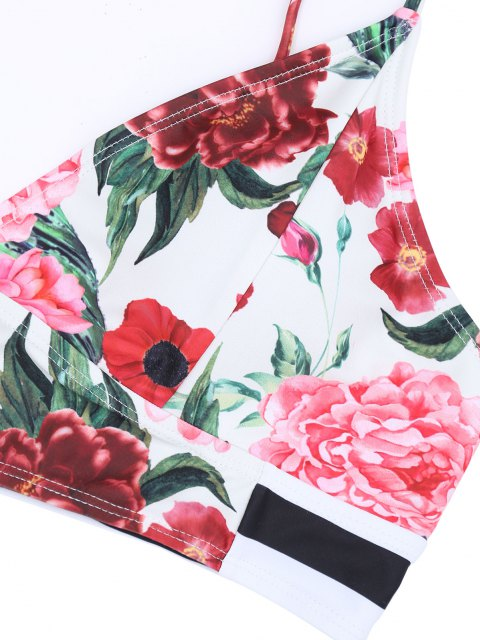 Conjunto De Biquíni De Cintura Alta Floral Plus Size - Cor Mistura 4XL Mobile