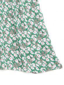 Con La Del Florales Blusa Hombro Volantes Gradas Verde De gxRqwUUd