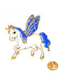 بروش لعيد الحب على شكل حصان بأجنحة - أزرق