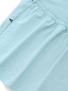 Camiseta Abierta Sin Espalda Mangas Azul Con Claro 4rAq4xB