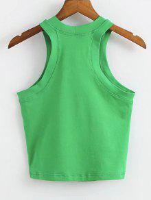 Top Cotton S Tank Letter Verde Logo qYZHYP