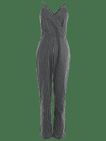 4cf11dfd229 39% OFF  2019 Striped Plus Size Surplice Jumpsuit In STRIPE