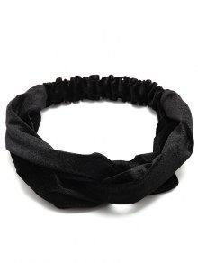 بسيطة متعددة الاستخدام المخملية مرونة الشعر الفرقة - أسود