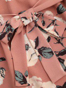 debc3988208 25% OFF] 2019 Ruffle Floral Off Shoulder Mini Dress In PINK | ZAFUL