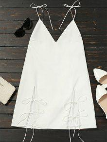 Cut Out Tied Cami Trapeze Dress