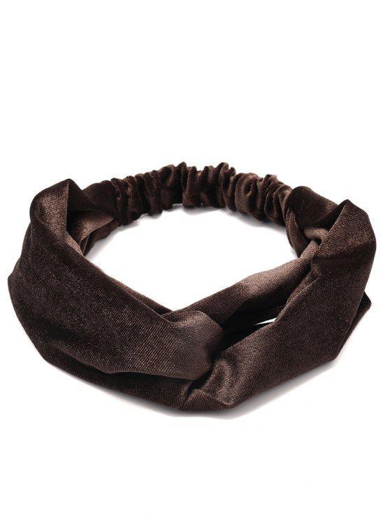 Simple Multi-Verwendung Velvet Elastisches Haarband - Dunkelbraun