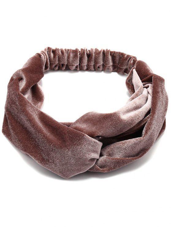 Simple Multi-Verwendung Velvet Elastisches Haarband - Kappuccino