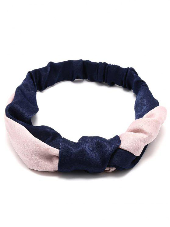 women Vintage Velvet Two Tone Elastic Hair Band - CADETBLUE