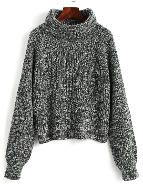 Turtleneck Heathered Pullover Sweater GRAY: Sweaters ONE SIZE | ZAFUL