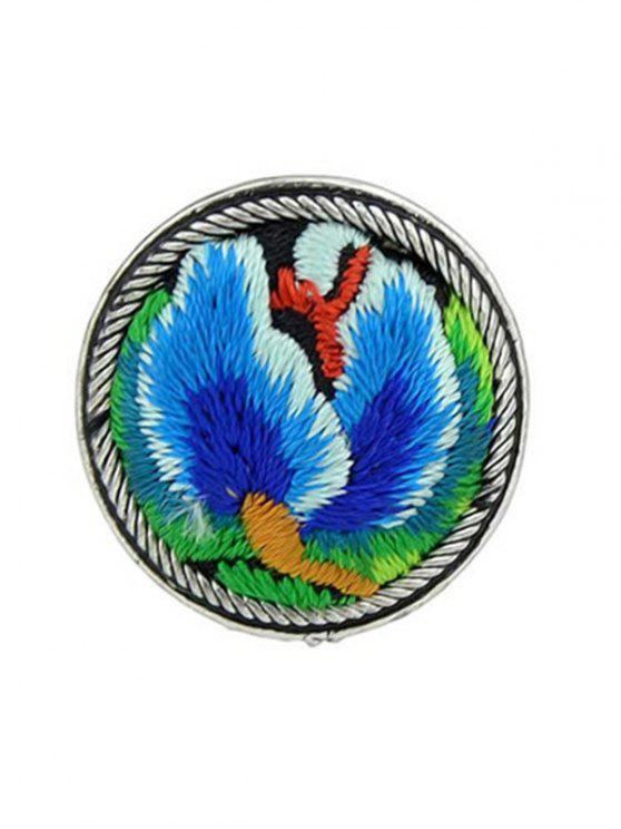 Vintage Stickerei Dekoration Ring - Blau Einheitsgröße