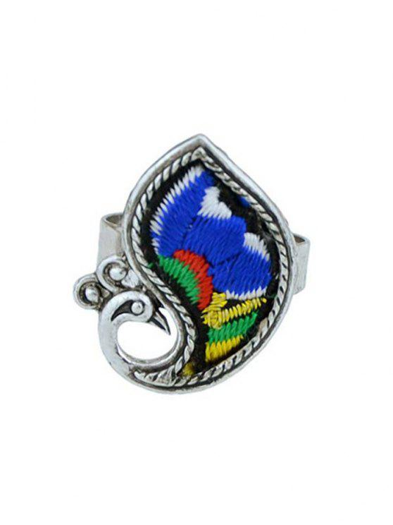 women's Paillette Bird Shape Ring - BLUE ONE-SIZE