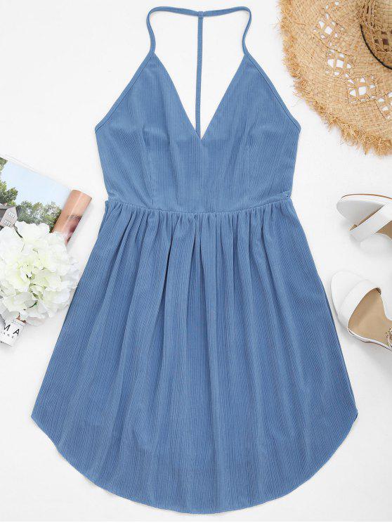 Mini vestido sin espalda Cami - Medianoche M