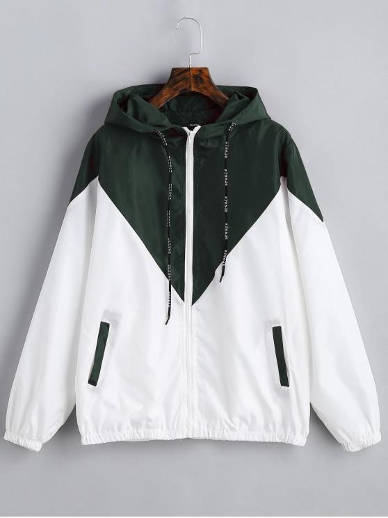 outfit Two Tone Hooded Windbreaker - ARMY GREEN S