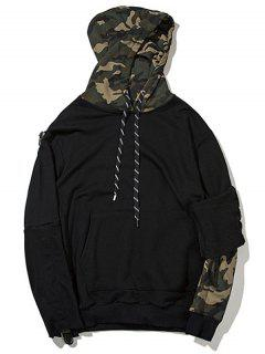 Pullover Camo Hoodie - Black Xl