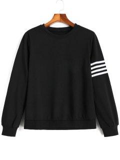 Camiseta Floja Del Panel De Las Rayas - Negro L