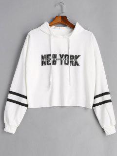 Stripe New York Graphic Hoodie - White S
