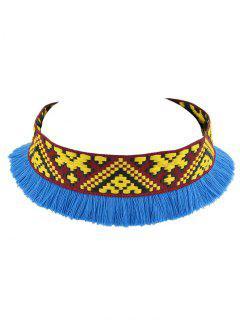 Embroidery Fringe Decorative Choker Necklace