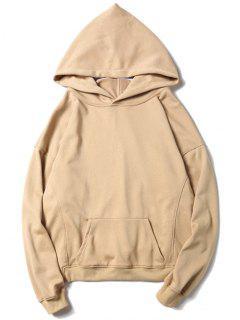 Kangaroo Pocket Oversized Hoodie - Apricot L