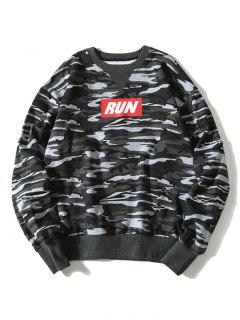 Graphic Camo Sweatshirt - Gray L