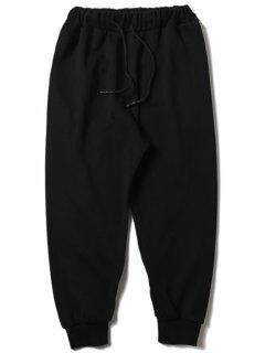 Drawstring Zipper Sports Pants - Black L