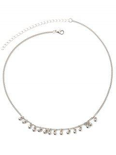 Beads Metal Chains Necklace - Silver