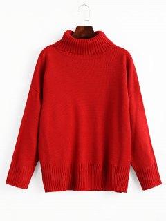 Jersey De Cuello Alto De Talla Grande Extragrande - Rojo