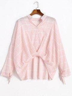Blusa Cuadrada Alta Blusa - Rosa Luz L