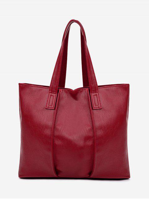 Bolso de hombro desnudo de cuero artificial - Rojo  Mobile
