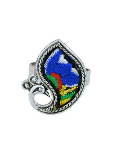 women's Paillette Bird Shape Ring - BLUE ONE-SIZE Mobile