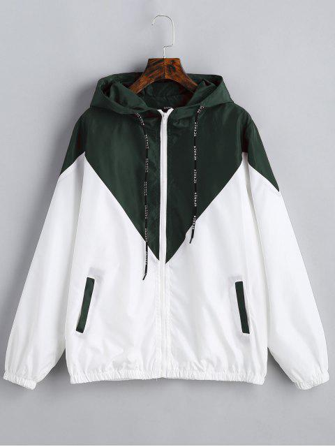outfit Two Tone Hooded Windbreaker - ARMY GREEN S Mobile