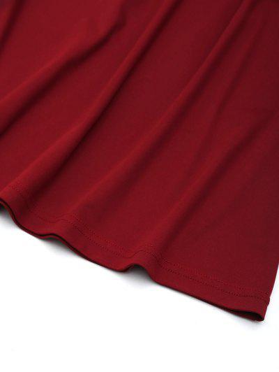 Zaful / Cut Out Scalloped Mini Dress