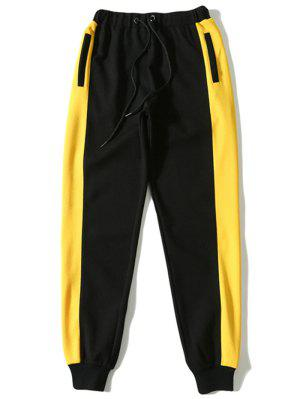 Pantalon de Sport Contrastant à Cordon de Serrage
