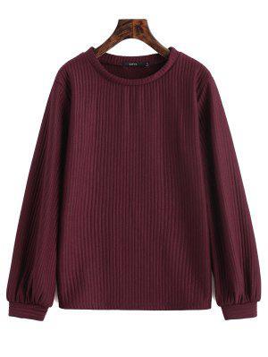 Geripptes Sweatshirt mit Laternehülse