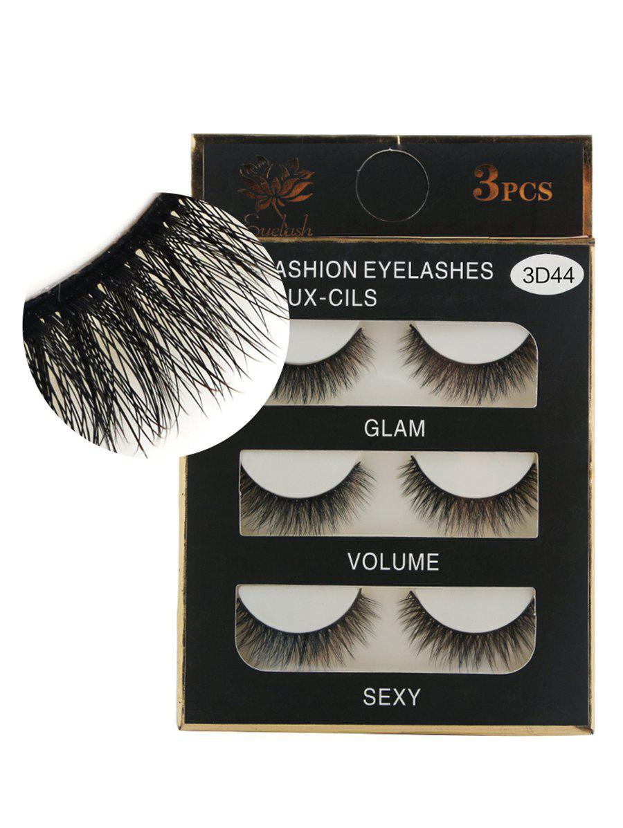 3Pcs Natural Effect Volumizing Makeup Fake Eyelashes
