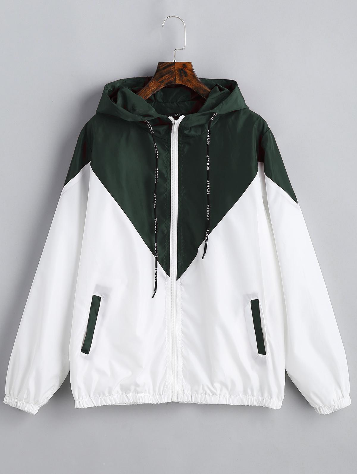 Two Tone Hooded Windbr