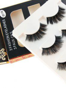 a88b4019ff73be 18% OFF] 2019 3Pcs Glam Volume Sexy Makeup Faux Eyelashes In BLACK ...