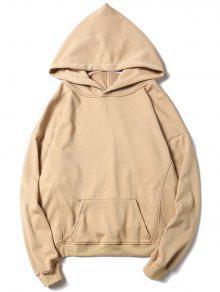Känguru-Tasche übergroßer Hoodie - Aprikose S