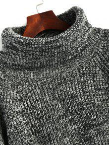 Cuello Alto Gris Jersey Cuello Vuelto Con De R5Eq8