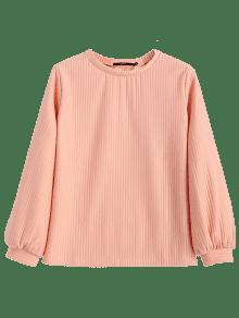 De Camiseta Con Rosado Linterna Manga Acanalada M qPtfcPB