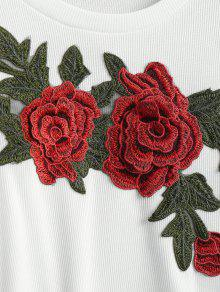 Cosechado shirt Cosechado M Applique Blanco T Floral qPaHxnwE6