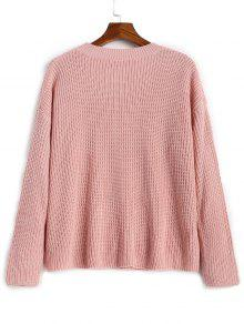 Oversized Faux Pearls Pullover Sweater PINK: Sweaters ONE SIZE | ZAFUL