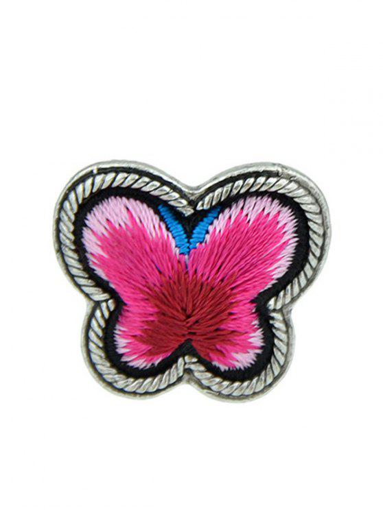 new Butterfly Pattern Paillette Ring - RED ONE-SIZE