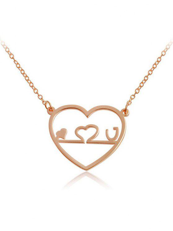 2018 valentines day hollow out love heart shape pendant necklace in ladies valentines day hollow out love heart shape pendant necklace rose gold aloadofball Image collections