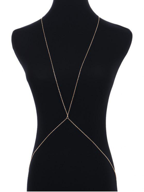 سلسلة بتصميم بسيط للجسم - ذهبي