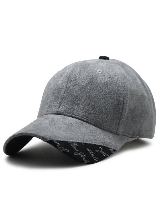 26% OFF  2019 Simple Suede Adjustable Baseball Cap In GRAY  945105da2009